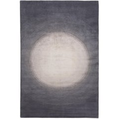 Spotlight Silver Hand-Knotted 6x4 Area Rug in Wool and Silk by David Rockwell