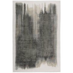 Brushstrokes Hand-Knotted 6x4 Area Rug in Wool and Silk by Elie Saab