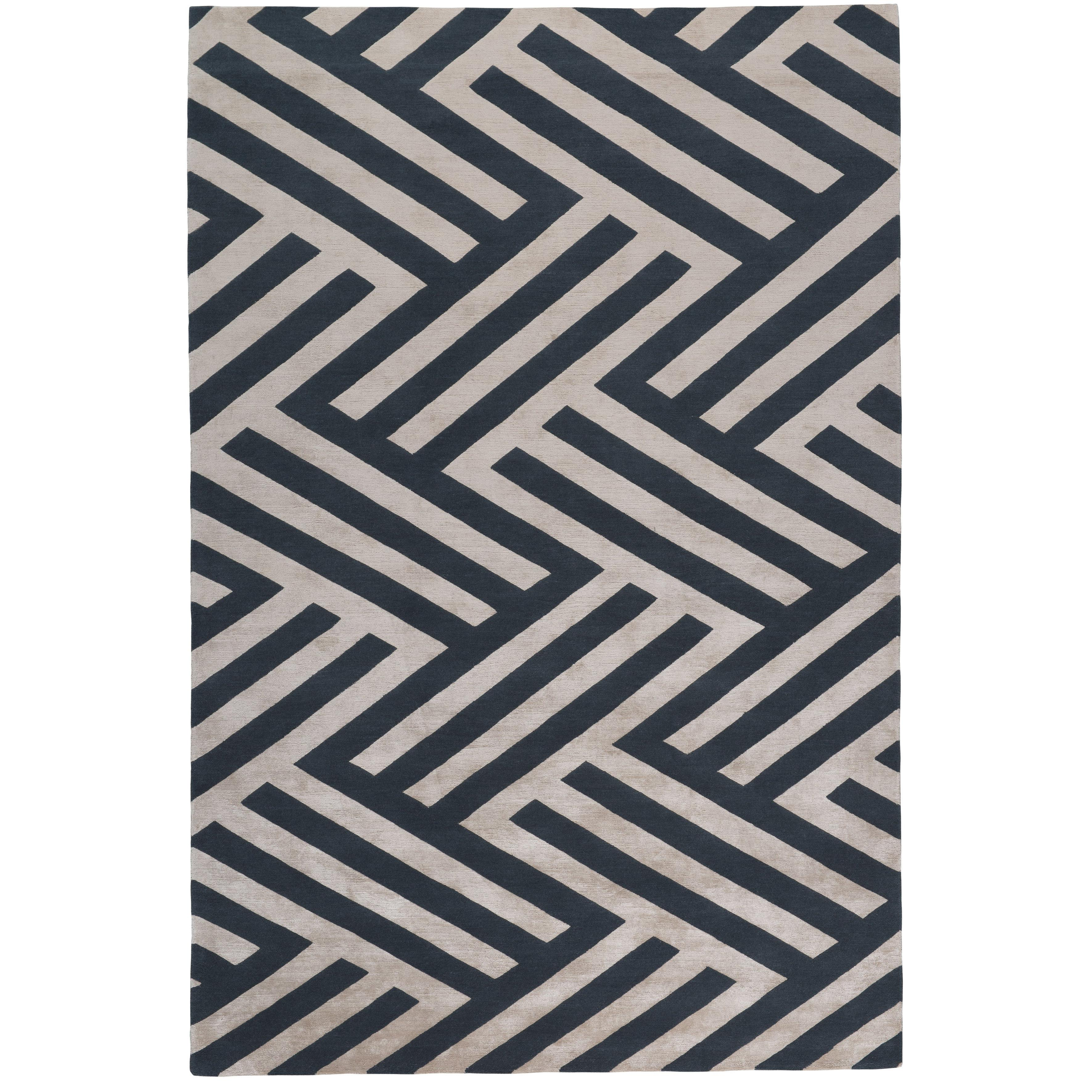 Regalia Hand Knotted 6x4 Floor Rug In Wool And Silk By Vivienne Westwood