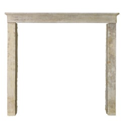19th Century Fine French Country Antique Fireplace Surround in Limestone