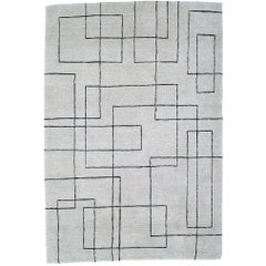 Cityscape 60 Knot Hand-Knotted 6x4 Area Rug in Wool by Sam Turner