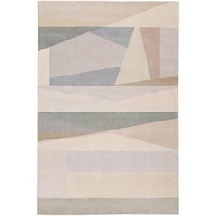 Split Light Hand-Knotted 6x4 Area Rug in Wool by Paul Smith