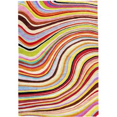 Swirl Hand-Knotted 6x4 Floor Rug in Wool by Paul Smith