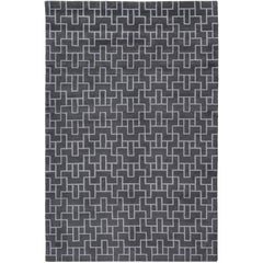 Element Hand-Knotted 6x4 Area Rug in Wool by The Rug Company