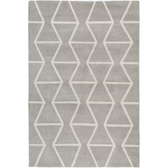 Kuba Hand-Knotted 6x4 Area Rug in Wool by The Rug Company