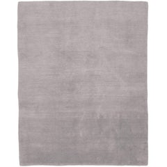 Mohair Dove 6x4 Hand-Knotted Area Rug in Wool by The Rug Company