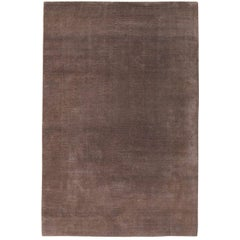 Mohair Sable 6x4 Hand-Knotted Area Rug in Wool by The Rug Company