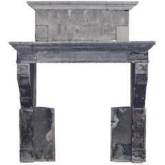 18th Century Fine French Country Limestone Antique Fireplace