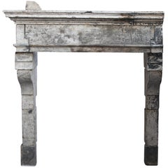 17th Century French Country Fireplace Surround in Limestone