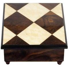 Chess Inlaid Wooden Box