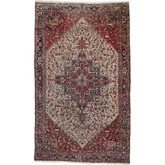 Antique Persian Heriz Area Rug with Modern Traditional Style, Gallery Size Rug