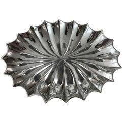 Biomorphic Cast Aluminum Tray or Bowl by Bruce Fox, circa 1975