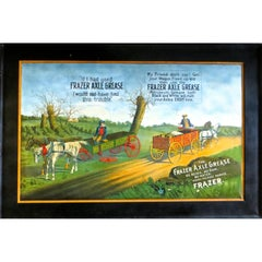 "Self Framed Tin Advertising ""Frazer Axle Grease"" American, circa 1900"