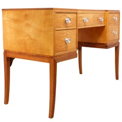 Art Deco Dressing Table in Satin Birch