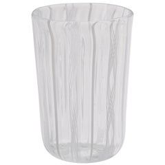 Set of Six White Filigree Glasses