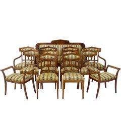Early 20th Century 13 Piece Mahogany Salon Suite
