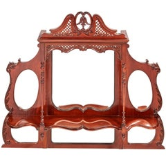 Quality Victorian Carved Mahogany Overmantel Wall Mirror