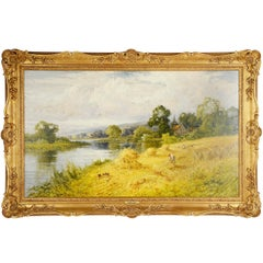 "Harry Pennell Painting ""The Upper Thames"""