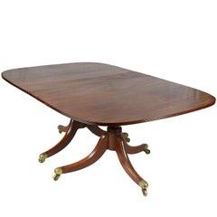 Regency Period Mahogany Twin Pedestal Dining Table