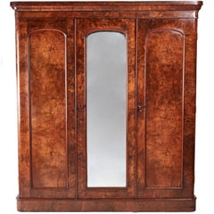 Quality Victorian Burr Walnut Wardrobe