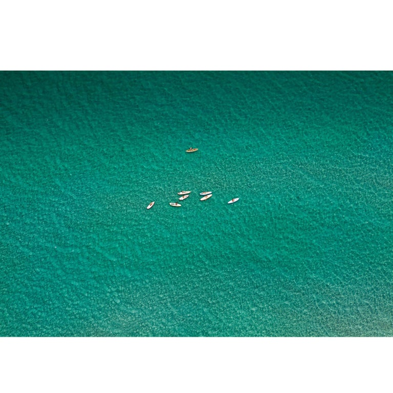 Paddle Boarders, Large Aerial Photograph, 2015