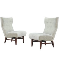 Midcentury Wingback Lounge Chairs