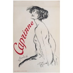 Original Vintage French Poster, 'Caprinne' Art Deco, 1927, Cabaret and Theatre