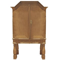 Danish Baroque Oak Cabinet, 18th Century