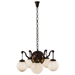 Austrian Mastercraft Brass Baroque Chandelier Re-Edition by Woka, Vienna
