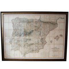 Regency Period Map of Spain & Portugal