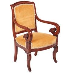 Quality Mahogany regency Library Chair
