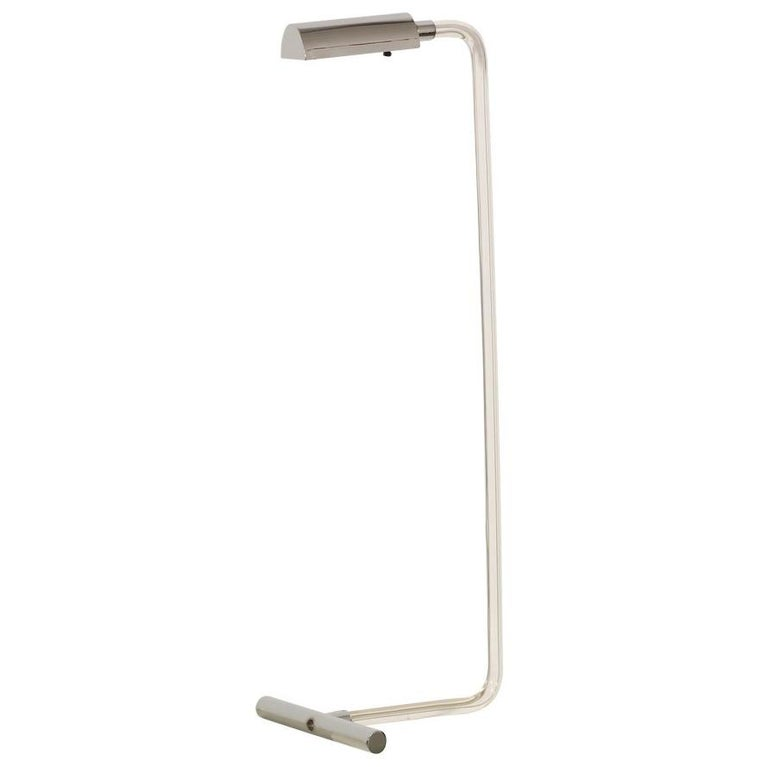 """Peter Hamburger """"Crylicord"""" Lucite and Chrome Floor Lamp"""