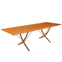 Hans J. Wegner At-304 Dining Table for Andreas Tuck