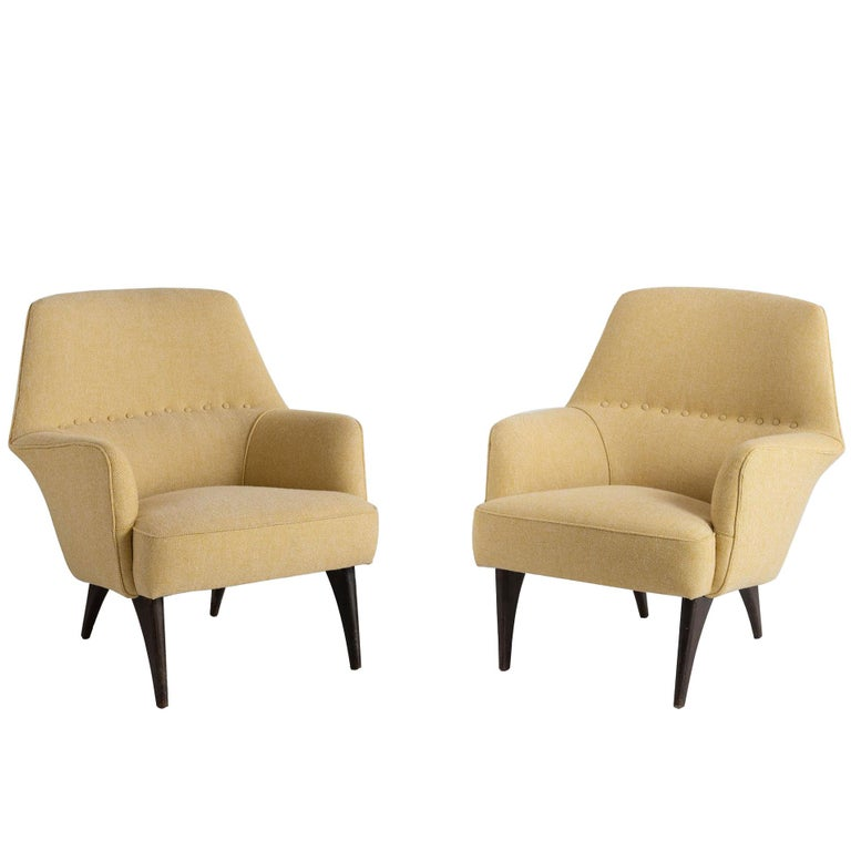 Pair of Mod Armchairs by Bergamo Isa, circa 1950 For Sale