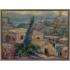 North African Waterfront Painting