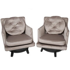 Edward Wormley for Dunbar Swivel Lounge Chairs