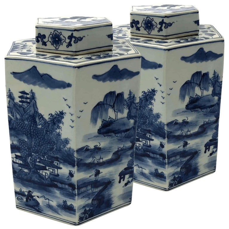 Chinese Blue And White Octagonal Garden Stool At 1stdibs
