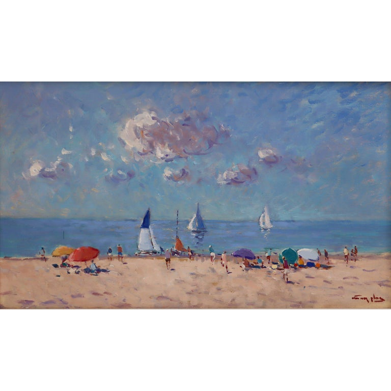 Niek Van Der Plas, Oil on Canvas, Summer Beach