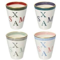 Set of Four Porcelain Vases with Christmas Decor Sofina Boutique Kitzbuehel