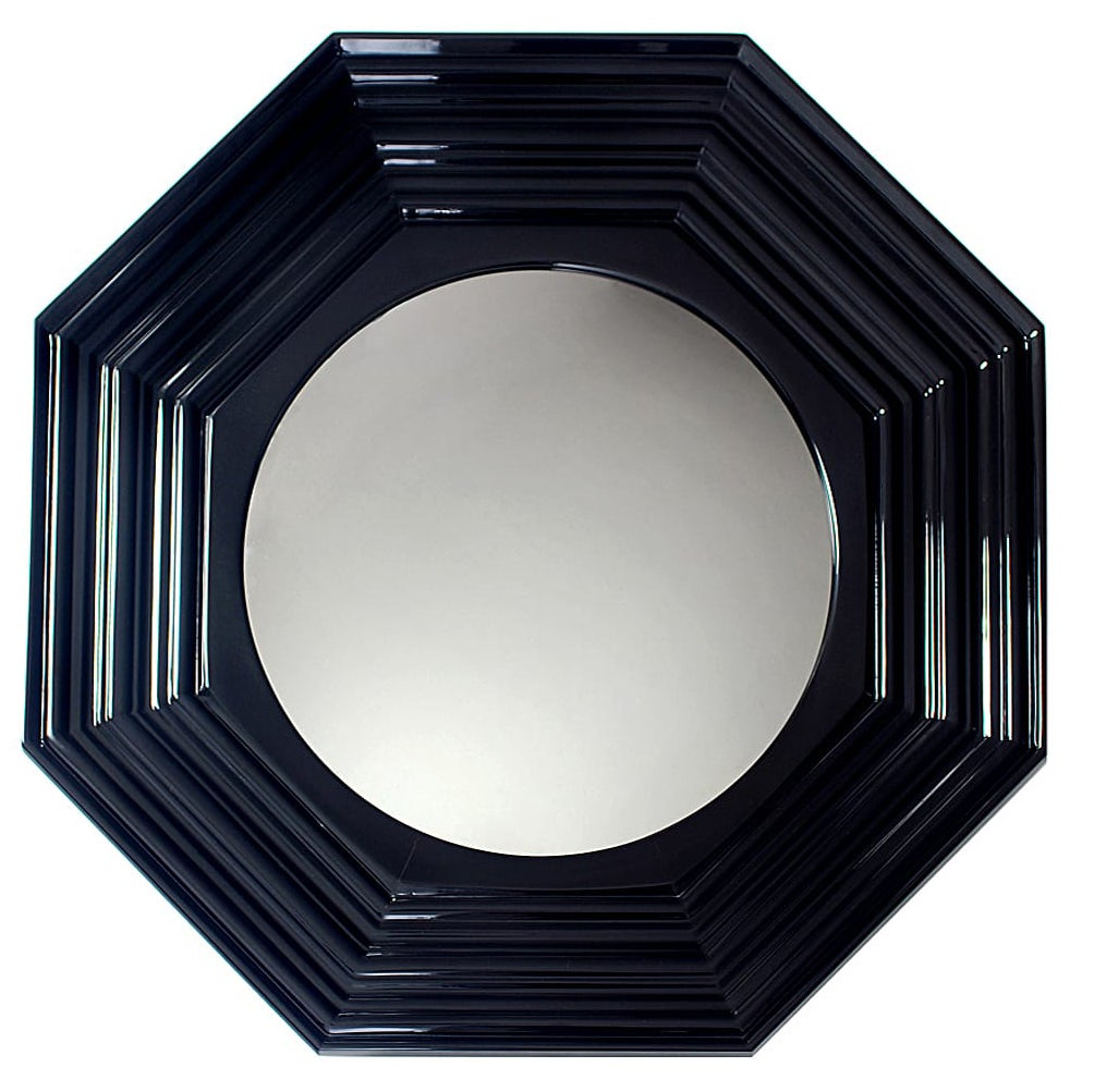 Lenox Mirror in Black Lacquered Wood