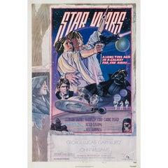 Star Wars US 1 Sheet Style D Original Film Poster, Struzen, 1977