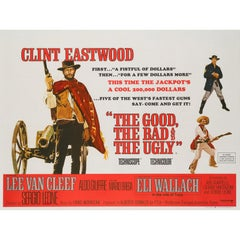 The Good, The Bad and The Ugly Original British Film Poster, 1966