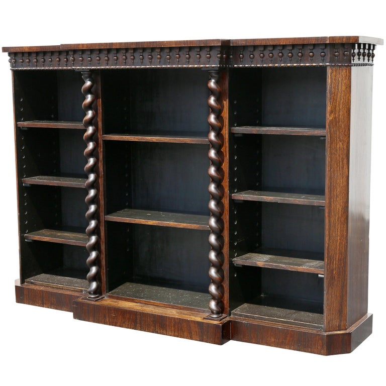 Early Victorian Rosewood Bookcase