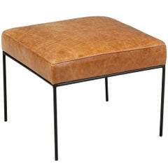 Paul McCobb Iron and Leather Stool for Planner Group
