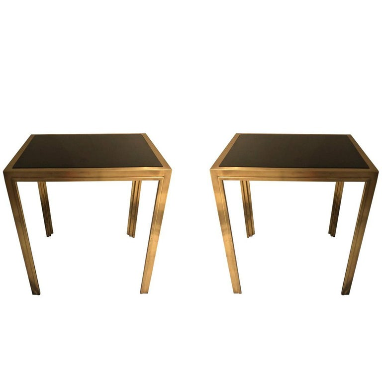 A Vintage Pair of French Deco Side Tables, circa 1935
