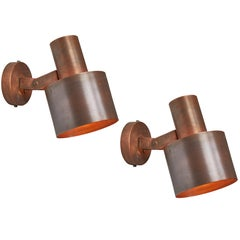 Pair of 1960s Paavo Tynell Copper Wall Lamps for Idman Oy