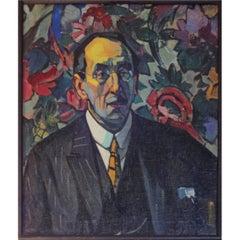 Portrait of August Vermeylen, Belgian Poet, by Achiel Van Sassenbrouck