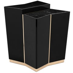 Ambassador Side Table with Black Marble Tops