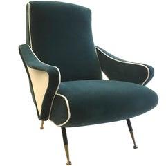 Nino Zoncada Style Armchair, 1950s, Italy