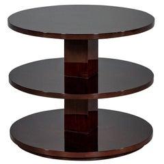 Modern Three-Tier Mahogany End Table